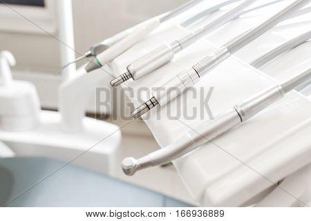 Closeup of a modern dentist tools, burnishers.