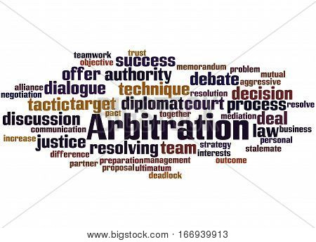 Arbitration, Word Cloud Concept 2