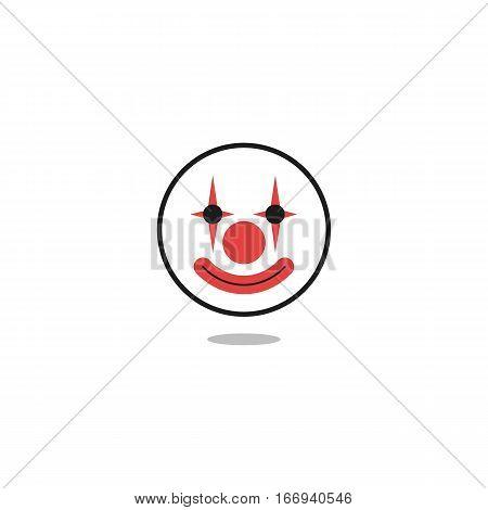 Round Circle Clown Face Icon or Logo
