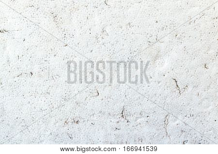 Close up Texture of dirty white styrofoam board