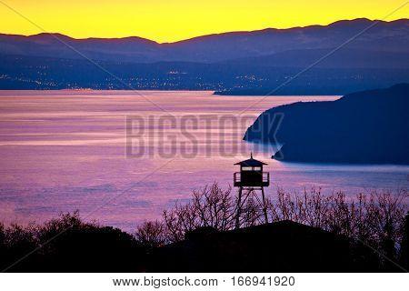 Lookout Tower Above Kvarner Bay