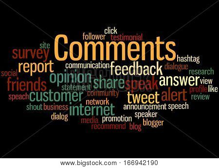 Comments, Word Cloud Concept 4