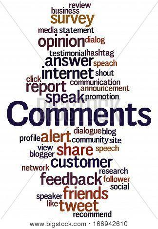 Comments, Word Cloud Concept 9