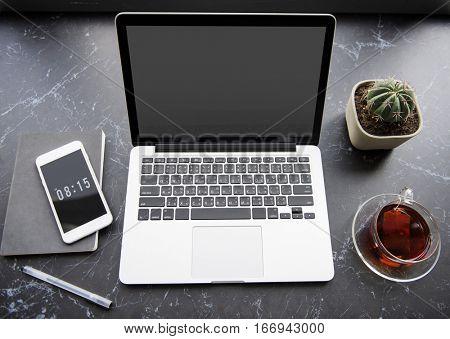 Laptop Technology Devices Desk Workstation