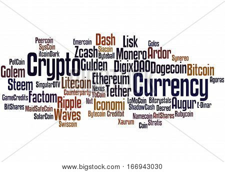 Crypto-currency, Word Cloud Concept 2