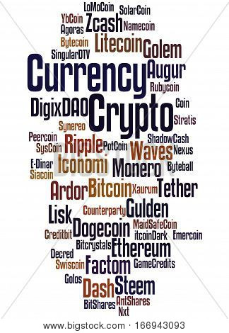 Crypto-currency, Word Cloud Concept 3
