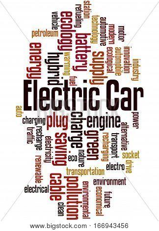 Electric Car, Word Cloud Concept