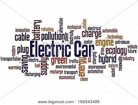 Electric Car, Word Cloud Concept 2