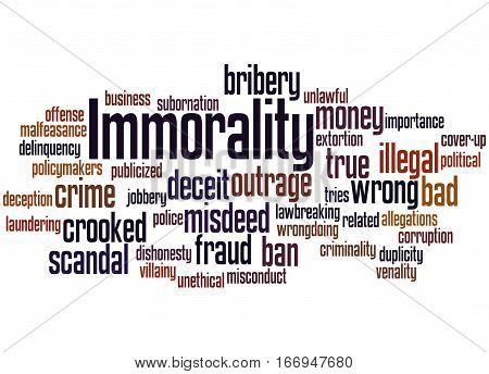 Immorality, Word Cloud Concept 2