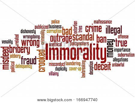 Immorality, Word Cloud Concept 3