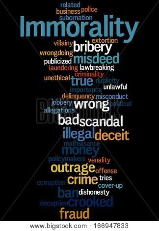 Immorality, Word Cloud Concept 5