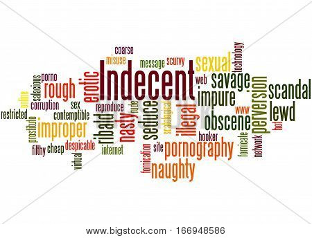 Indecent, Word Cloud Concept 7