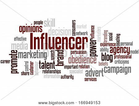 Influencer, Word Cloud Concept