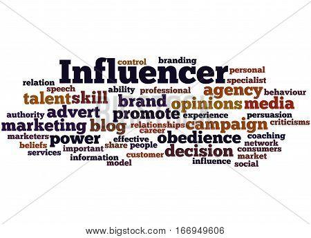 Influencer, Word Cloud Concept 6