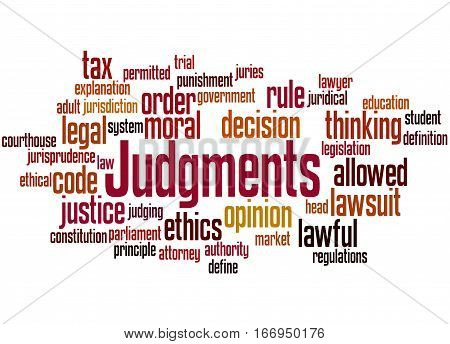 Judgments, Word Cloud Concept 3