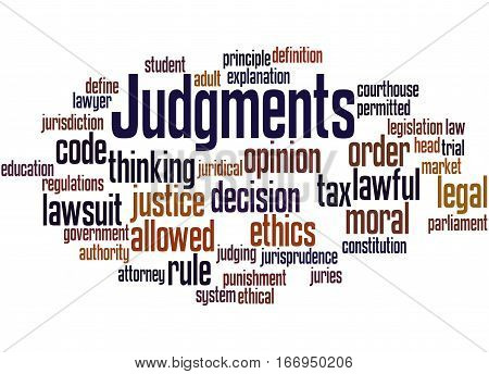 Judgments, Word Cloud Concept 4