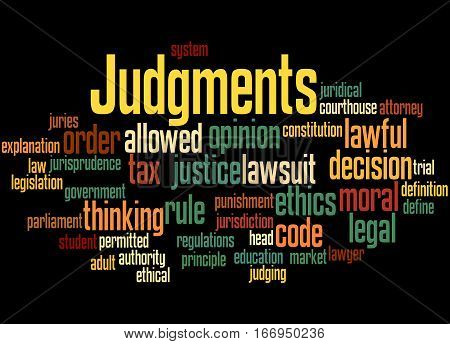 Judgments, Word Cloud Concept 5