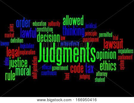 Judgments, Word Cloud Concept 9