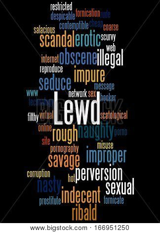 Lewd, Word Cloud Concept 6