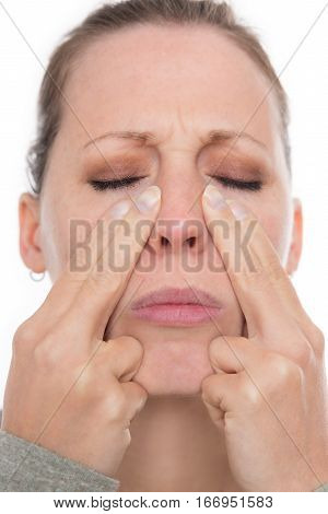 Young Woman With A Acute Sinusitis