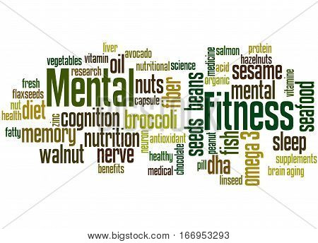 Mental Fitness, Word Cloud Concept 7