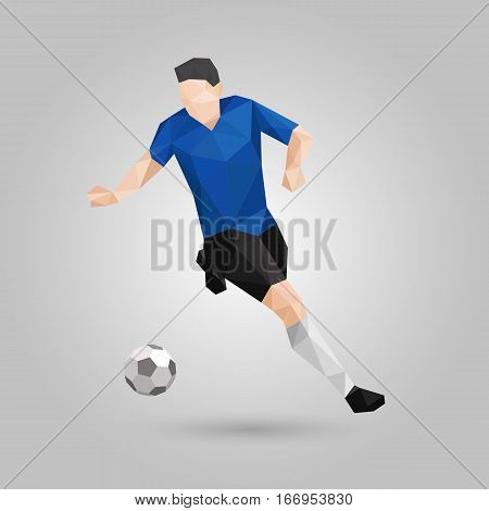 Geometric soccer player control the ball at speed