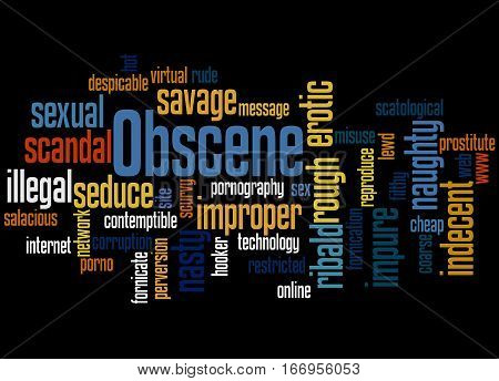 Obscene, Word Cloud Concept 3