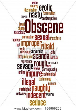 Obscene, Word Cloud Concept 6