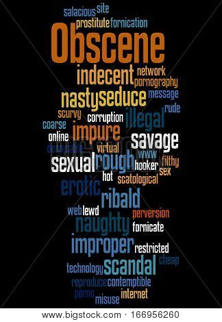 Obscene, Word Cloud Concept 7