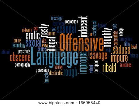 Offensive Language, Word Cloud Concept 3