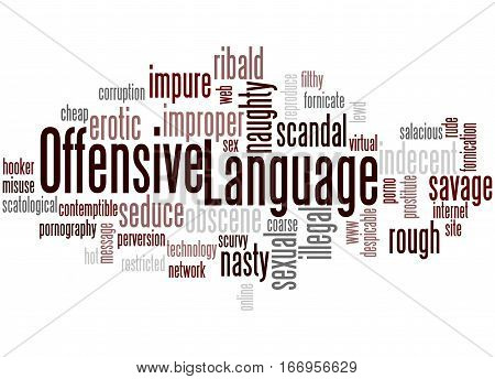 Offensive Language, Word Cloud Concept 6