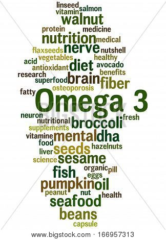 Omega 3, Word Cloud Concept 4