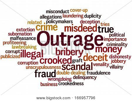 Outrage, Word Cloud Concept
