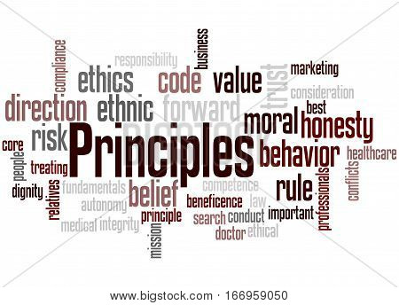 Principles, Word Cloud Concept