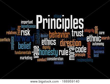 Principles, Word Cloud Concept 3