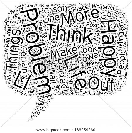 Inside Out Empowerment text background wordcloud concept