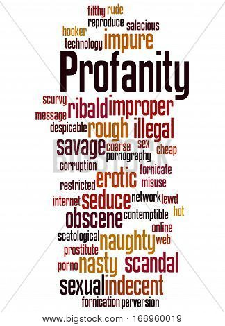 Profanity, Word Cloud Concept 8