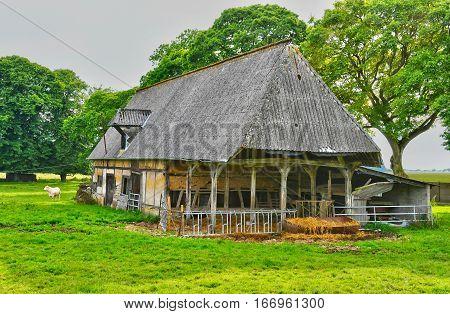 La Neuville Chant d Oisel France - june 22 2016 : an old farm in the countryside