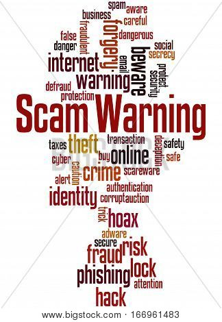Scam Warning, Word Cloud Concept 4