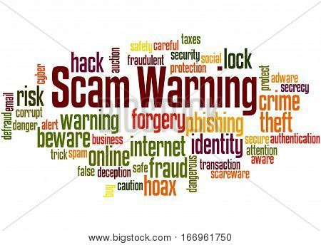 Scam Warning, Word Cloud Concept 5