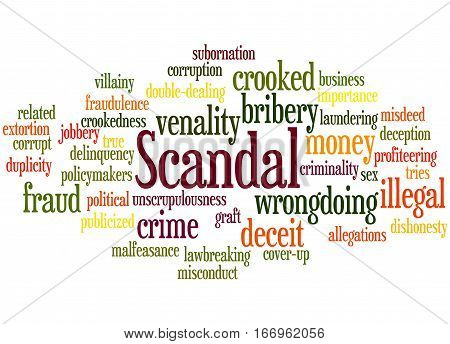 Scandal, Word Cloud Concept