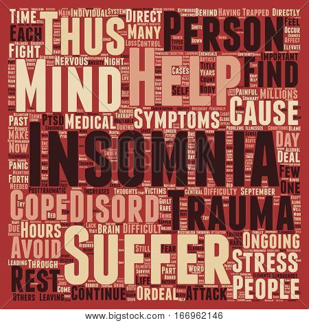Insomnia Through Trauma text background wordcloud concept