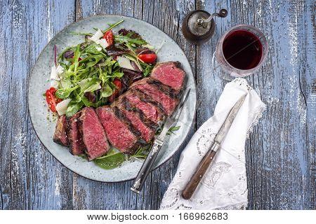 Wagyu Prime Rib Steak with Italien Salad