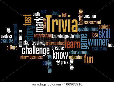 Trivia, Word Cloud Concept 3