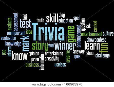 Trivia, Word Cloud Concept 4
