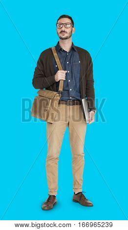 Caucasian Man Neutral Messenger Bag
