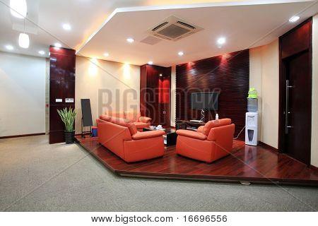 The interior decoration of modern urban architecture