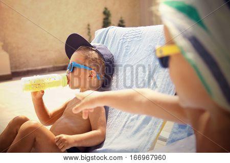 Two Cool Boys Sunbathing