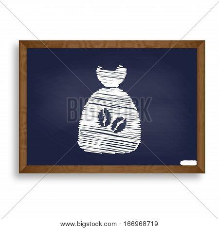 Coffee Bag Icon. Coffee Bag Vector. Coffee Bag Icon Button. Whit