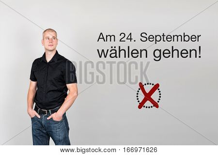 Man With German Appeal To Vote At German Federal Election 2017